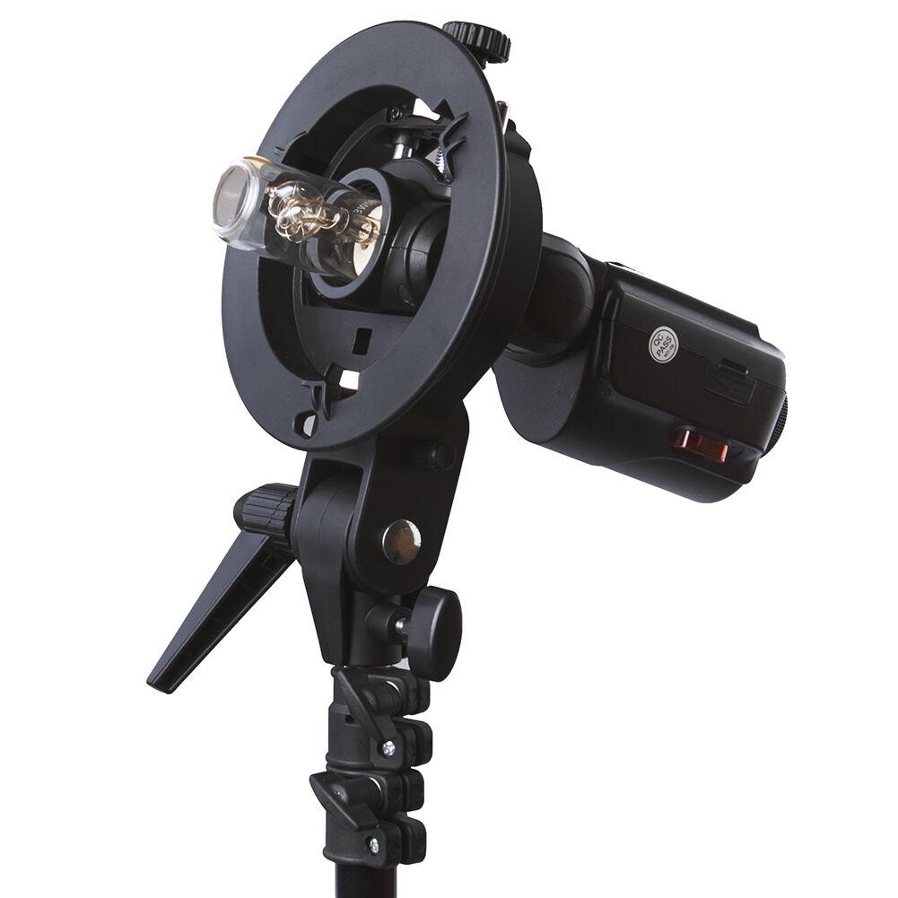 Details About Neewer S Type Flash Bracket Mount For Canon 580EX 600EX Nikon SB910 SB900