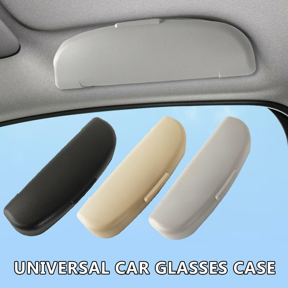 1* Car Sunglasses Case Universal Car Front Glasses Holder Eye Glasses Storage Box with Clip