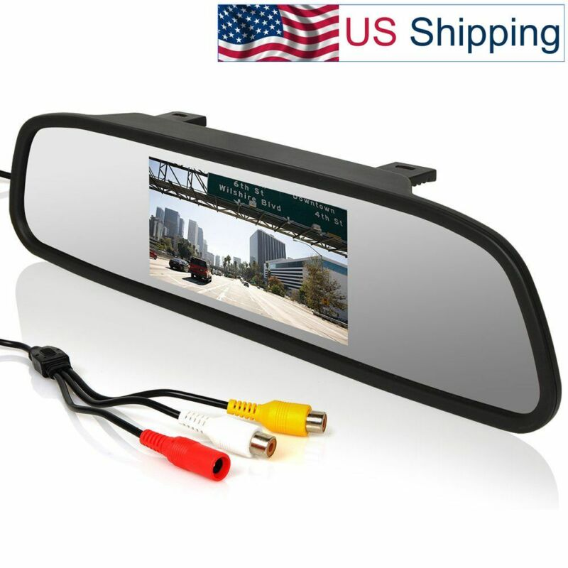 Universal 12V 24V 4.3 inch Car Video Monitor Auto Rear View On-Mirror LCD Screen