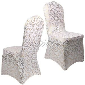 gold universal elastic chair cover wedding party banquet with printed