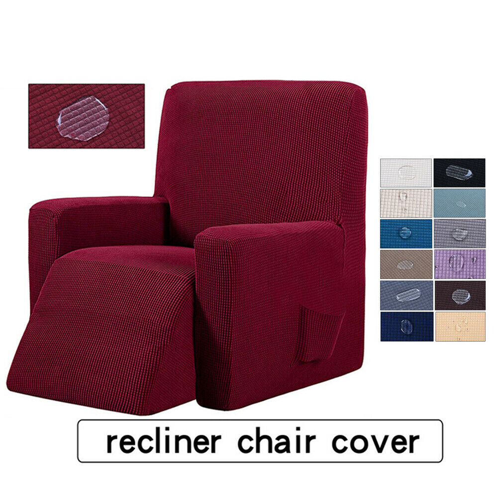 Stretch Recliner Chair Slipcover Suede Polyester Sofa Couch