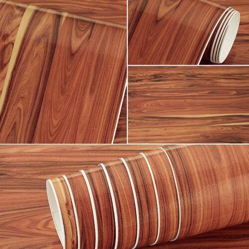1x Wood Grain Sticker Vinyl Wrap Decal Sheet Film Emblem