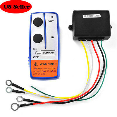 NEW 12V Winch Wireless Remote Control Key Receiver Switch Set For Truck Jeep ATV