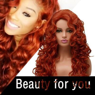 Frauen lange lockige Perücken Orange Rot Perücke synthetisches - Rot Orange Perücke
