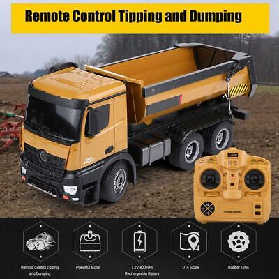 RC Dump Engineering Truck 10CH HuiNa 1573 1/14 Alloy Auto Vehicle Remote Control