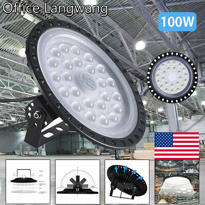 100w Ufo Led High Bay Light Warehouse Industrial Light Fixture 10000lm