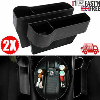 1 Pair Car Seat Gap Catcher Filler Storage Box Pocket Organizer Holder...