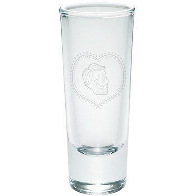 Sugar Skull Male (Valentines Male Sugar Skull Etched Shot Glass)