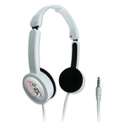 Messy Puppy Dog with Paintbrush Travel Portable On-Ear Foldable Headphones