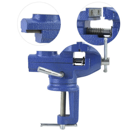 Clamp-on Bench Vise Swivel TableClamp with Anvil for Jewelry