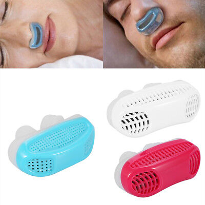 Relief Snoring Aid Snore Stopper Air Purifier Sleep Nose Breathing Apparatus New