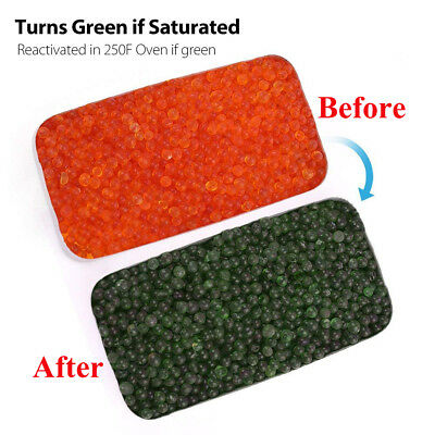 Orange Indicating Silica Gel Desiccant Beads Moisture Absorber Dehumidifier
