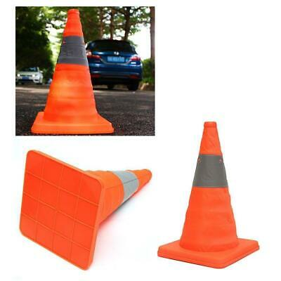 Orange Emergency Construction Traffic Reflective Collapsible Safety Cones SS3