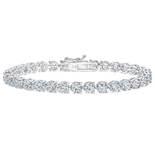5.00 Ct Ladies Round Cut Diamonds Tennis Bracelet In Three Prong Setting 14 Kt
