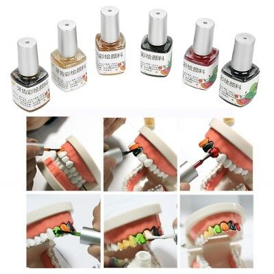 Colorful Tooth Paint Halloween Cosplay Fancy Party Dress make-up Teeth Pigment S