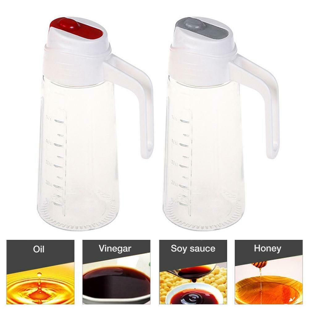1x Acrylic Olive Oil Soy Sauce Jar Vinegar Bottle Clear Pot Kitchen Sauce Cruets