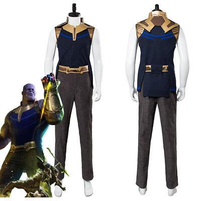 US! Avengers 3:Infinity War Thanos Adult Halloween Cosplay Costume Full Set Prop](Full Set Halloween Costumes)
