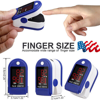 Pulse Oximeter Blood Oxygen Saturation Spo2 Meter Finger Fingertip Pr Monitor