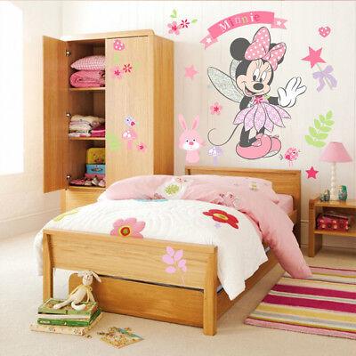 Minnie Maus Wandtattoo Wandsticker XXL Baby Mädchen Mickey Mouse Kinderzimmer