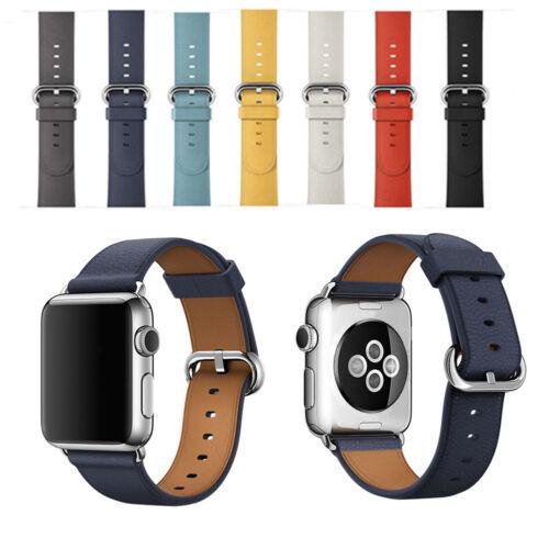 Luxury Leather Watch Strap Bracelet Wrist Band For Apple Watch Series 3/2/1