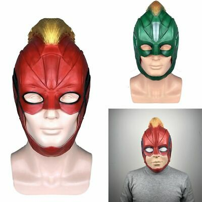 Captain Marvel Maske Superhelden Frauen Carol Danvers Helm Halloween Cosplay