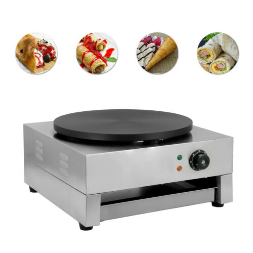 "16""Commercial Electric Crepe Maker Baking Pancake Machine Bi"