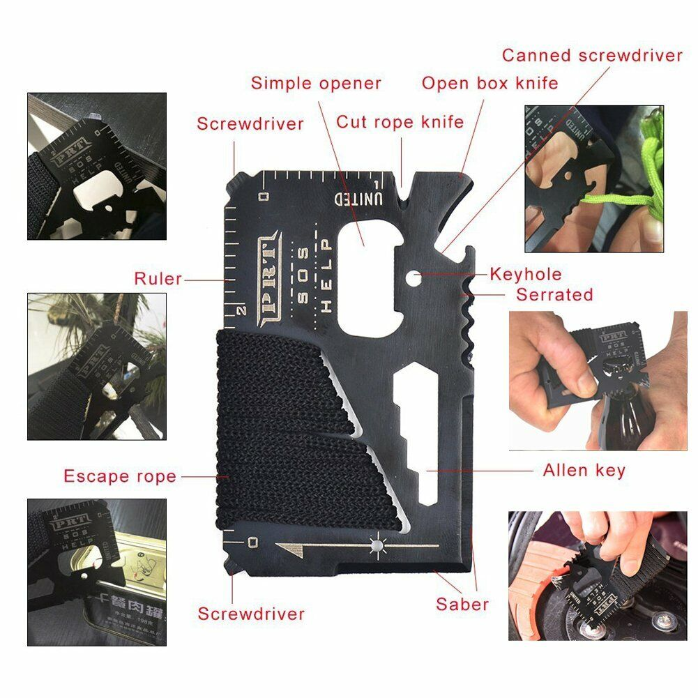 11 in 1 Emergency Camping Survival Equipment Kit Outdoor Tactical Gear Tool Set 6