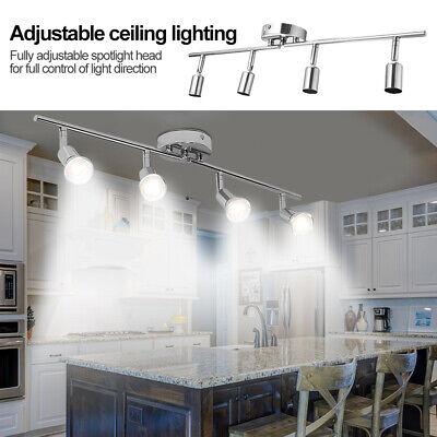 5W LED Track Lighting Rail Spotlight 4 Heads Adjustable Downlight Shop Lamp (Adjustable Spotlight)