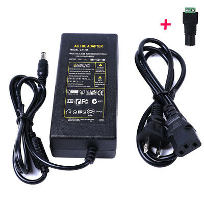 12v 5a Power Supply Adapter Led Transformer For 3528 5050 Rgb Light Lamp Strip