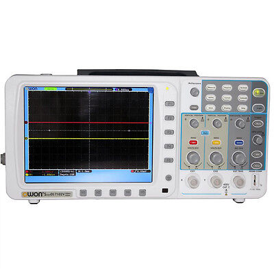 Newest Low-noise Owon 100mhz Oscilloscope Sds7102v Fft Battery Lan Vga
