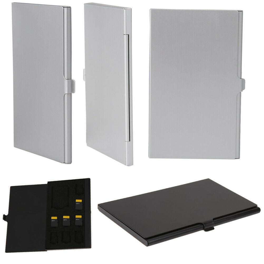 Monolayer Aluminum 1 SD + 8 TF Micro SD Cards Pin Storage Ca