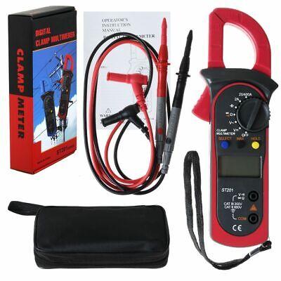 Digital Multimeter Tester Ac Dc Volt Amp Clamp Meter Auto Range Lcd Handheld