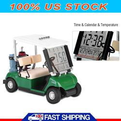 Digital LED Alarm Clock Backlight Time Calendar Temperature Golf Cart Shape New