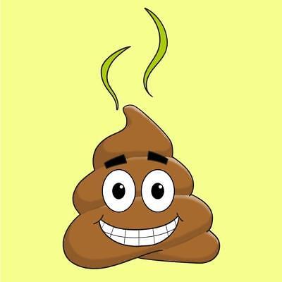 Smiling Poop Cartoon Emoji Vinyl Sticker (Smiling Poop Emoji)