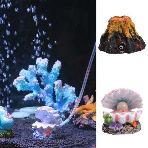 New aquarium volcano shell shape air bubble stone oxygen for Aquarium volcano decoration