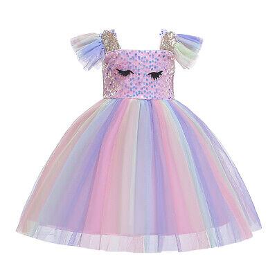 Unicorn Flower Baby Girl Dress Kid Princess Party Birthday Cosplay Fancy - Flower Baby Costume