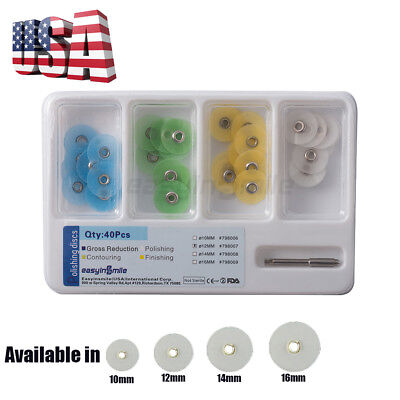 Dental Polishing Disc Metal Bush Composite Finishing Contouring Kit Easyinsmile