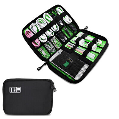 Portable Electronic Accessories Cable USB Drive Organizer Bag Travel Insert Case