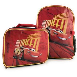 Disney Pixar Cars 3 Lightning McQueen Kids Backpack with Insulated Lunch Kit
