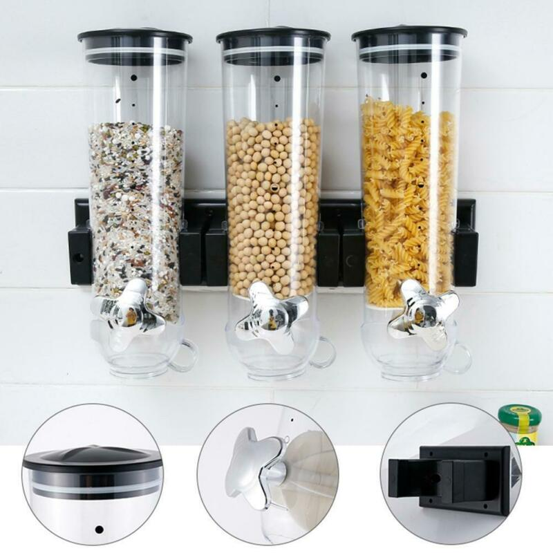 dry food storage double cereal dispenser pasta