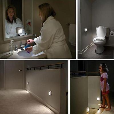 Led Motion Sensor Automatic Toilet Night Light Bowl Bathroom Decor Wall Lamp