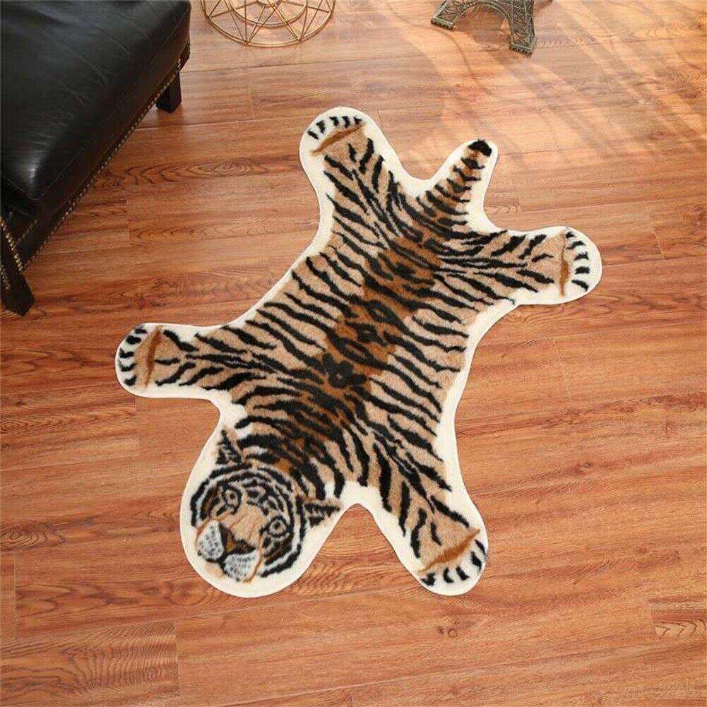 Tiger Cow Print Rug Skin Hide Mat