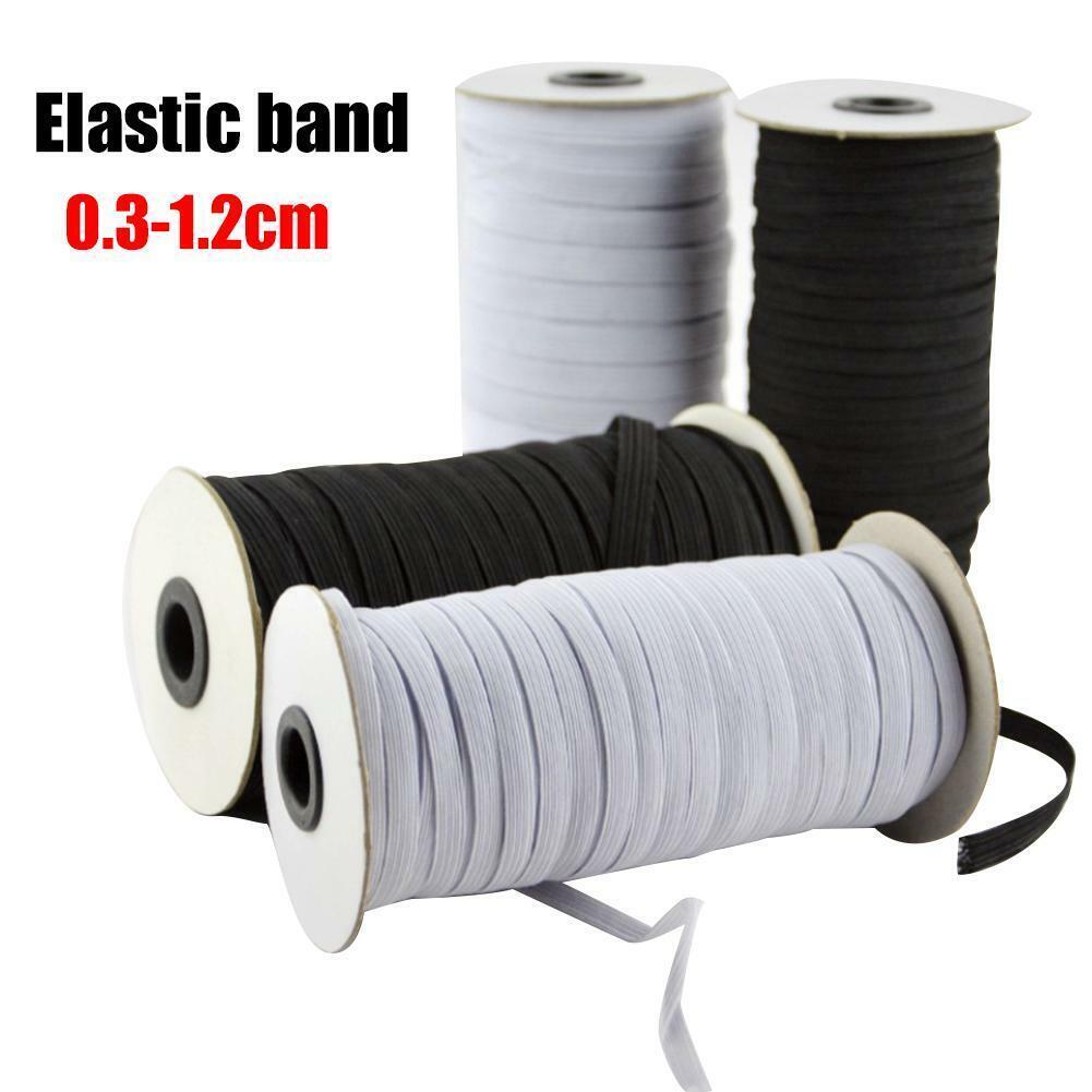 2M or 5M x 10mm Wide Flat ELASTIC Stretch BAND Sewing Dress Waist ~ thin~