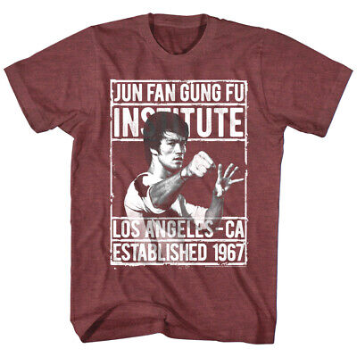 Bruce Lee Jun Fan Gung Fu Institute Los Angeles California 1967 Mens T (Jun Fan Gung Fu Institute T Shirt)