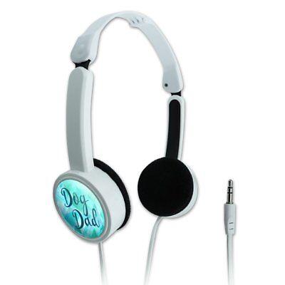Dog Dad Novelty Travel Portable On-Ear Foldable Headphones
