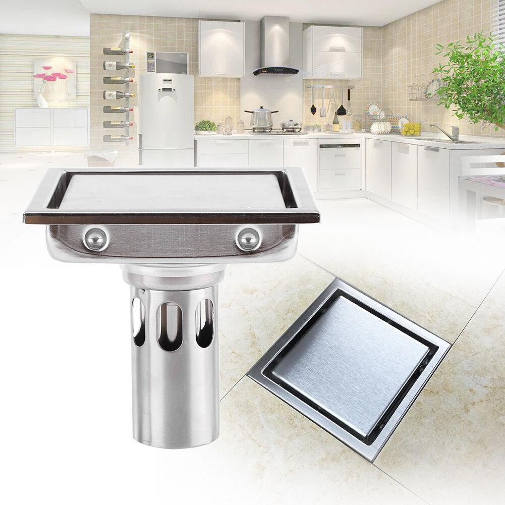 Home Stainless Steel Tile Insert Linear Shower Grate Bathroom Floor Drain Waste Ebay