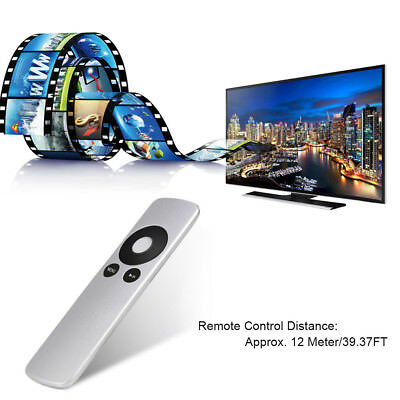 Silver Genuine Replacement Remote Control for Apple TV TV2 TV3 TV4  All Gen UK
