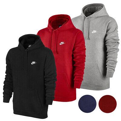 Nike Men's Active Sportswear Long Sleeve Fleece Workout Gym Pullover Hoodie Activewear