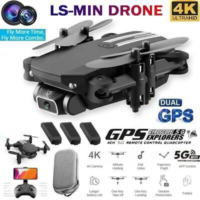 Drone Foldable Quadcopter WIFI FPV 480P 1080P 4K Wide-Angle HD Camera Gift New