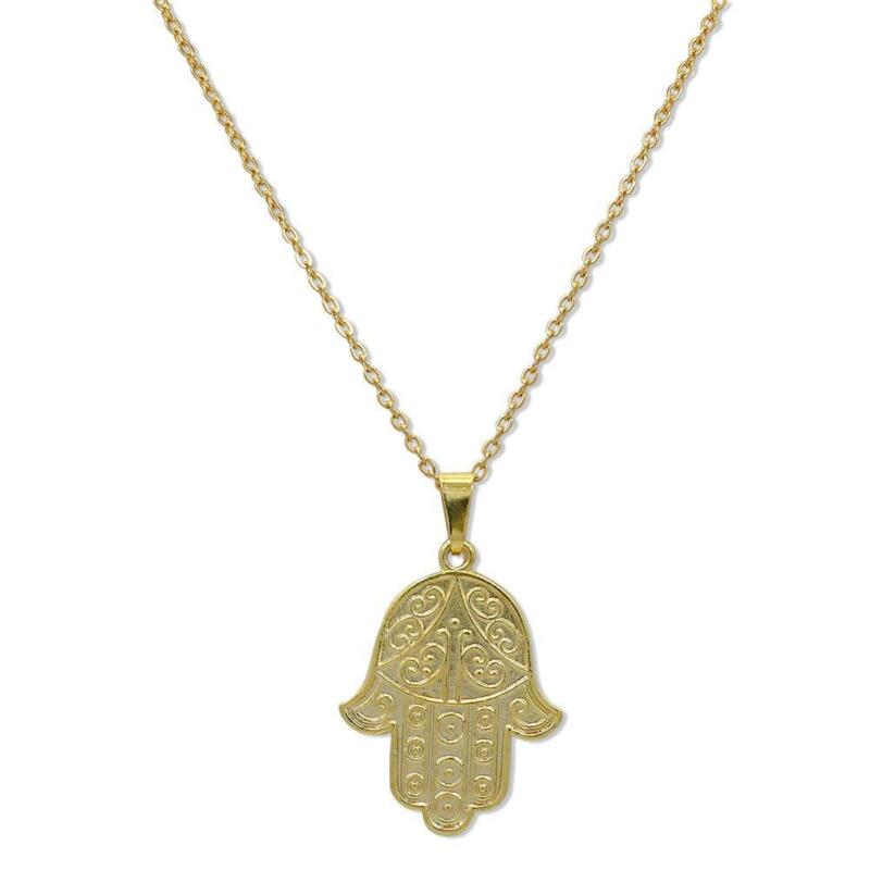 hamsa shop accessories gold necklace pendant